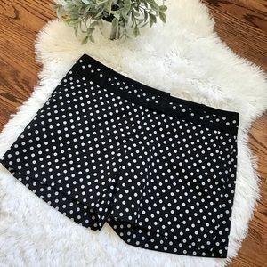The Limited navy polka dot shorts